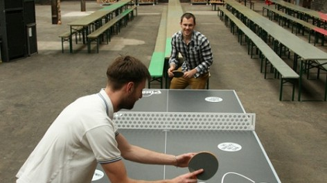 Ping pong at Camp and Furnace liverpool
