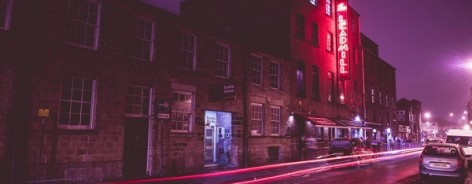 Long exposure shot of the front of The Leadmill