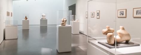 'Barbara Hepworth- Two Forms' installation view, The Hepworth Wakefield, 2013 Photographer- Hannah Webster Image courtesy The Hepworth Wakefield