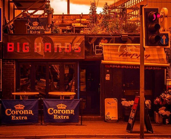 The front of Big Hands bar