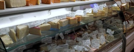 The cheese counter in Liverpool Cheese Company
