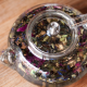 A glass teapot filled with specialist tea