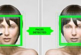 Image of facial recognition technology at work.