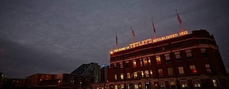 Photograph of The Tetley's frontage at night
