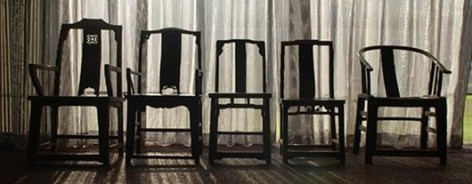 Fairytale–1001 Chairs, 2007. Qing dynasty wooden chairs (1644-1911).