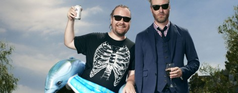 The National frontman Matt Berninger with his brother Tom.