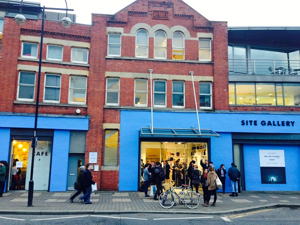Photo of Site Gallery in Sheffield, the front painted bright blue.