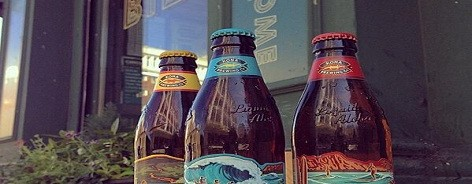 Photo of three Hawaiian beers outside Bier bar
