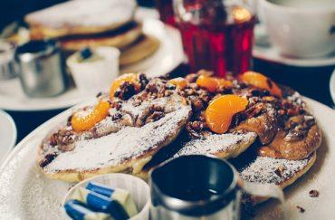 Granola pancakes by Moose coffee