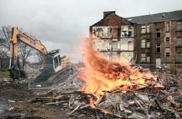 Commonwealth Games in Dalmarnock eviction