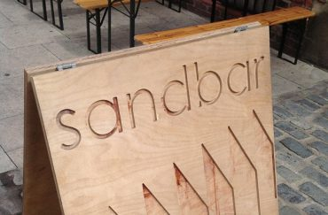 Sandbar sign Grosvenor Street Manchester.