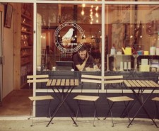 Photo of Fig and Sparrow's shop front with chairs outside