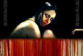 Poster image for horror film Julia, showing a girl and blood dripping down a wall