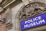 Photo of the Greater Manchester Police Museum sign above a doorway