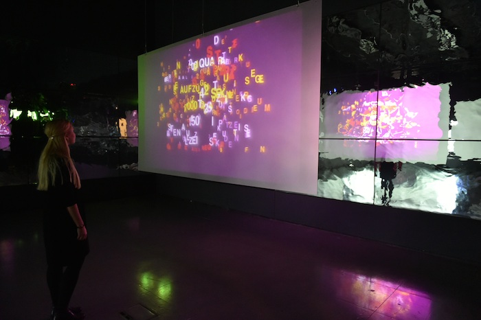 1. Type Motion exhibition, 2014, Installation at FACT Liverpool, Gallery 1. Photo by Brian Slater. copy
