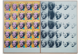 Photo of the Marilyn Diptych, one side colour, one side black and white
