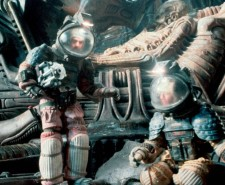 Screen shot from Alien, with two men in space suits