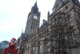 Photo of the Town Hall with Santa out front