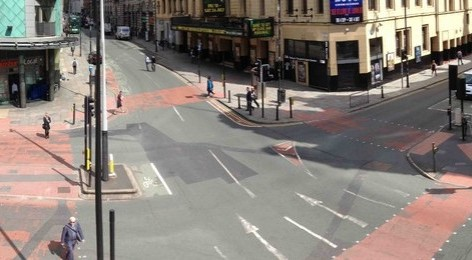 Photo of the crossing outside Cornerhouse