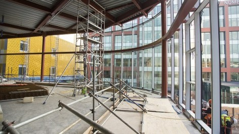Photo of the cafe/bar being built