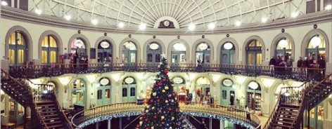 A Christmas tree in the Corn Exchange