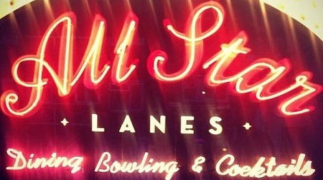 All Star Lanes neon sign
