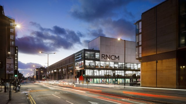 Photo of the RNCM at night. Home of Young Explorers events