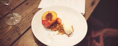 Photo of a peach desert