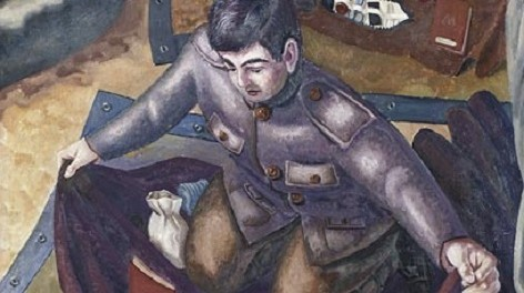 Kit Inspection by Stanley Spencer. Image courtesy Manchester Art Gallery.