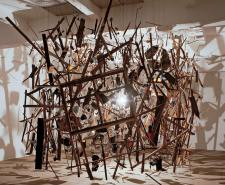 Photo of an exploded looking artwork