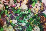 Aubergine salad with pistachios