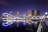 Photo of media city at night