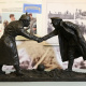Model of the Christmas truce handshake statue