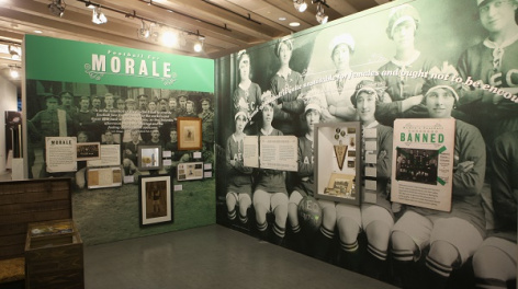 Photo of the Morale section in the exhibition