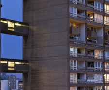 Balfron Tower at night