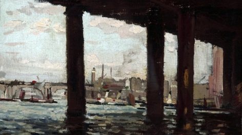 Painting of the Charing Cross Bridge bridge