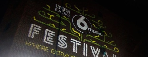 Photo of the 6Music Festival logo on a wall