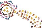Butterflies made from wax-print fabric