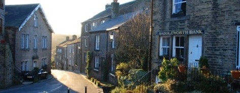 Photo of a sunny street in Dobcross