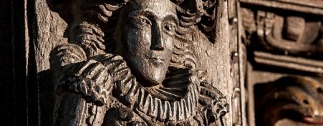 Photo of a carving of a woman