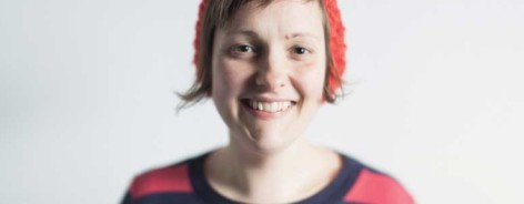 Photo of Josie Long in red beanie