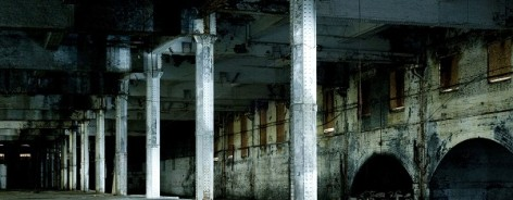 Dark image of the inside of the Mayfield Depot