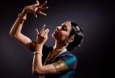 Seeta Patel performing traditional Indian dance
