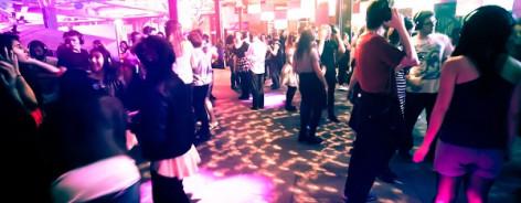 A silent disco at MOSI.