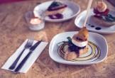 Photo of food sticks on plates