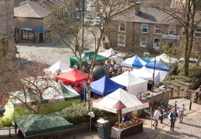 Shot across Ramsbottom's farmers market