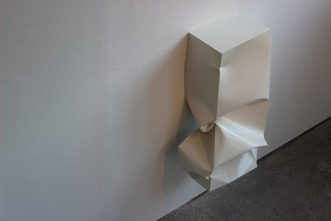 Angela de la Cruz, Compressed 1 (White), 2010 Three