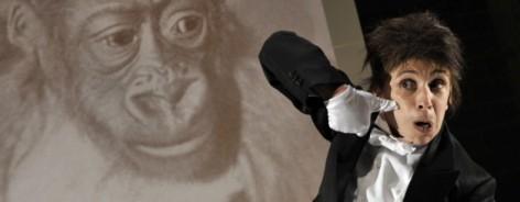 Photo of Kathryn Hunter in Kafka's Monkey