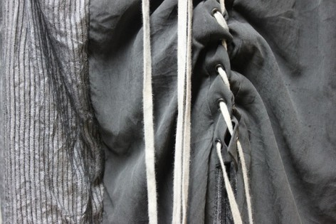 Photo of a laced grey dress