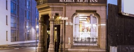 Front of the Marble Arch pub
